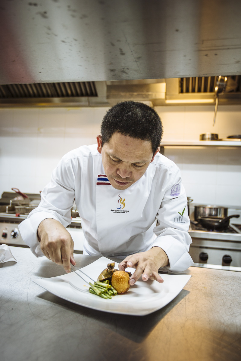 commercial lifestyle photography chef Chumpon plating