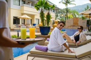 holiday inn resort Patong pool lifestyle photography with models