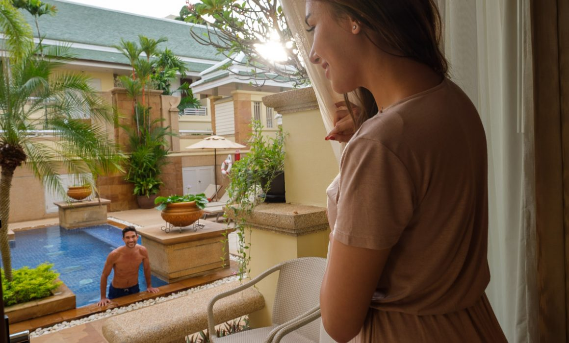 holiday inn resort Patong interior lifestyle photography with models