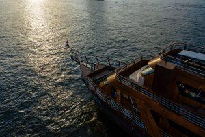 aerial drone photography Bangkok luxury cruise Pruek