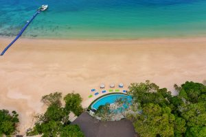 drone aerial resort photography of awei pila