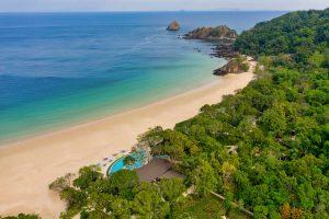 drone aerial resort photography Thailand mergui archipelago