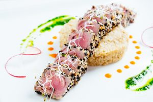food photography tuna Japanese style Thailand