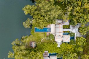 profession pool villa drone photography Thailand
