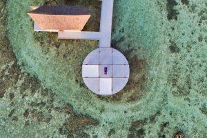 Movenpick resort Maldives aerial drone photography